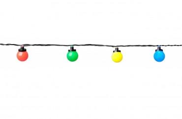 System 24 party light - ljusslinga med 10 st LED-lampor med färgade lampor, EXTRA (påbyggnadsslinga).