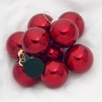 Julgranskulor röda enfärgade 6-pack