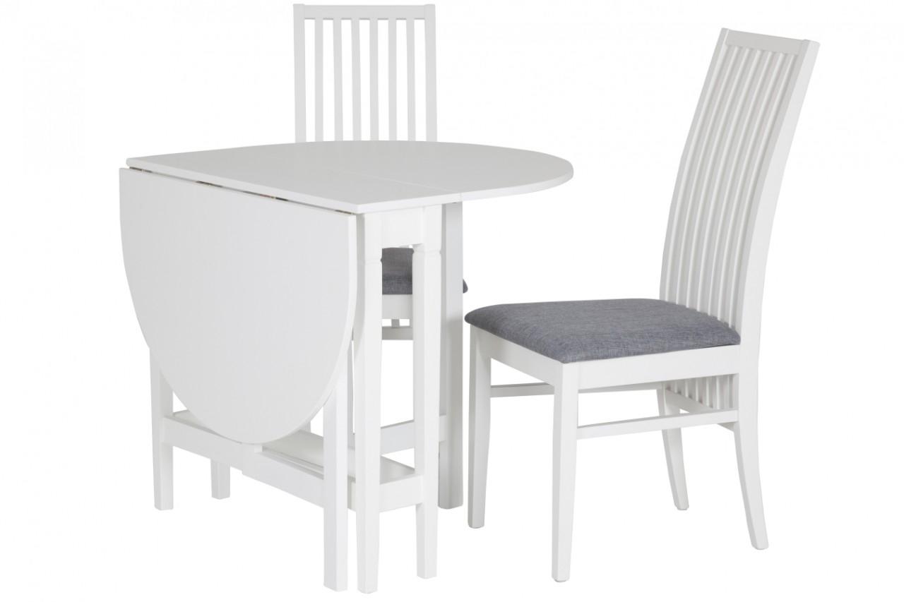 Splitter nya Matbord Limhamn med 2-4 stolar. Vitt slagbord i vacker lantlig CM-24