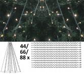 Granpaket LED 4 - Komplett paket med LED-ljusdekoration för gran 20 m, utomhus.