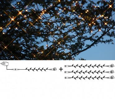 Baspaket med utbyggbara ljusslingor i LED, varmvit