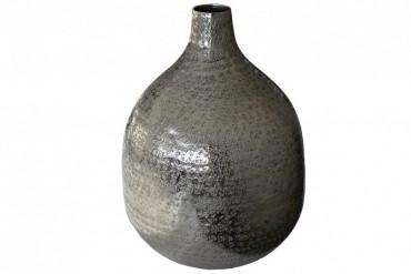 Vas Kyna Silver Stor. Hamrad aluminium i silver färg. Höjd 36 cm.