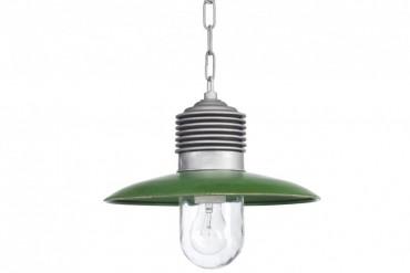Lampa Ampere aluminium/grön, handtillverkad taklampa i koppar och aluminium. Lampa i industristil! Bredd: 31 cm i diameter.