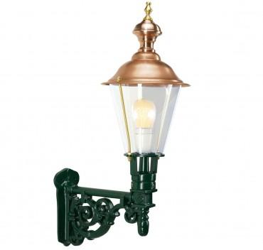 Väggfast utelampa i koppar och aluminium i klassisk stil. Exklusiva handtillverkade utelampor online!