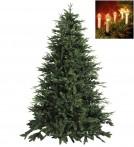 Julgran Delaware med klassisk julgransbelysning. Paket med naturtrogen konstgran 210 cm och 16 st julgransljus.