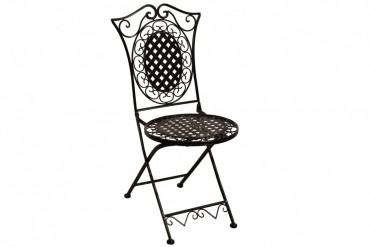 Stol Totra svart, hopfällbara stolar i svart metall. 2-pack.