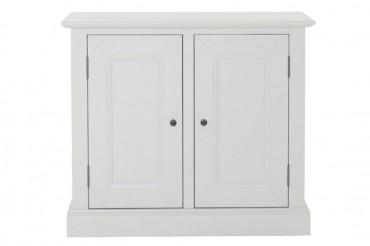 Skänk från serien Sanda. Stilren buffé med två dörrar. Storlek: 93x43 cm.
