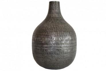 Vas Kyna Grafitgrå. Hamrad aluminium i grafitgrå färg. Höjd 31 cm.