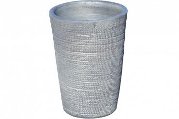 Vas Kvilla. Stilren grå vas i grov keramik. Höjd 40 cm.