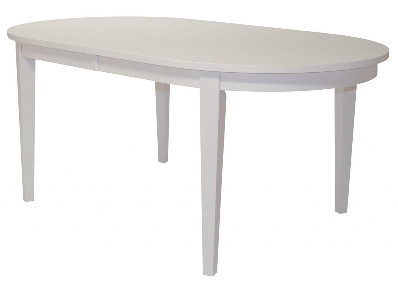 Köp Matbord I Ek Eller Vitt Med Iläggsskiva