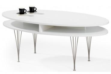 Soffbord Linz, vitlackerat högkvalitativt soffbord i storleken 120x60 cm.