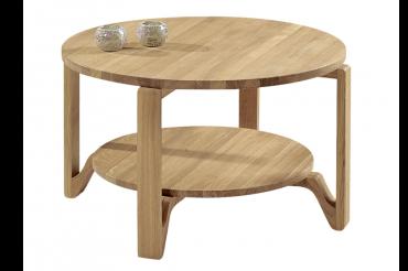 Soffbord Eslöv i massiv oljad ek. Högkvalitativt soffbord med omkretsen 80 cm.