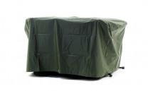 Möbelskydd för utebord i grön PVC-behandlad plast. Praktiskt regnskydd för utemöbler! Mått: 150x90 cm.