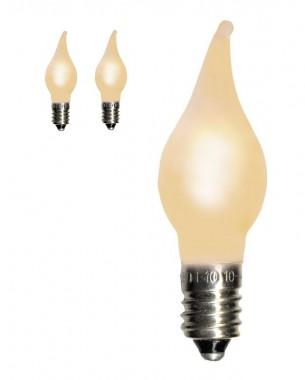 LED-lampa Romance i frostad varmvit. Universal E10-lampa 0,1 W, 3-pack.