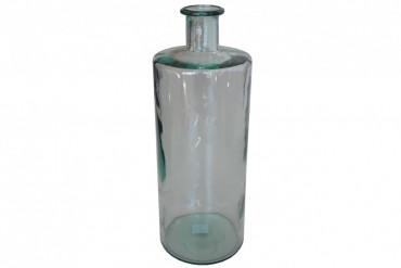 Vas Gladsax. Vacker vas i färgat glas. Höjd 41 cm.