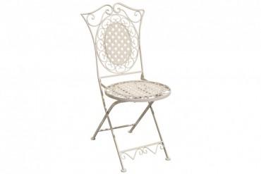 Stol Totra Romantik, hopfällbara stolar i vitt smide. 2-pack.