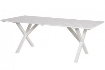 Bord Visingsö i vitlaserad svensk furu. Mått: 200 cm.