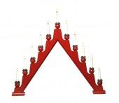 Stellan adventsljusstake med 11 ljus. 69 cm hög, röd. 1-pack
