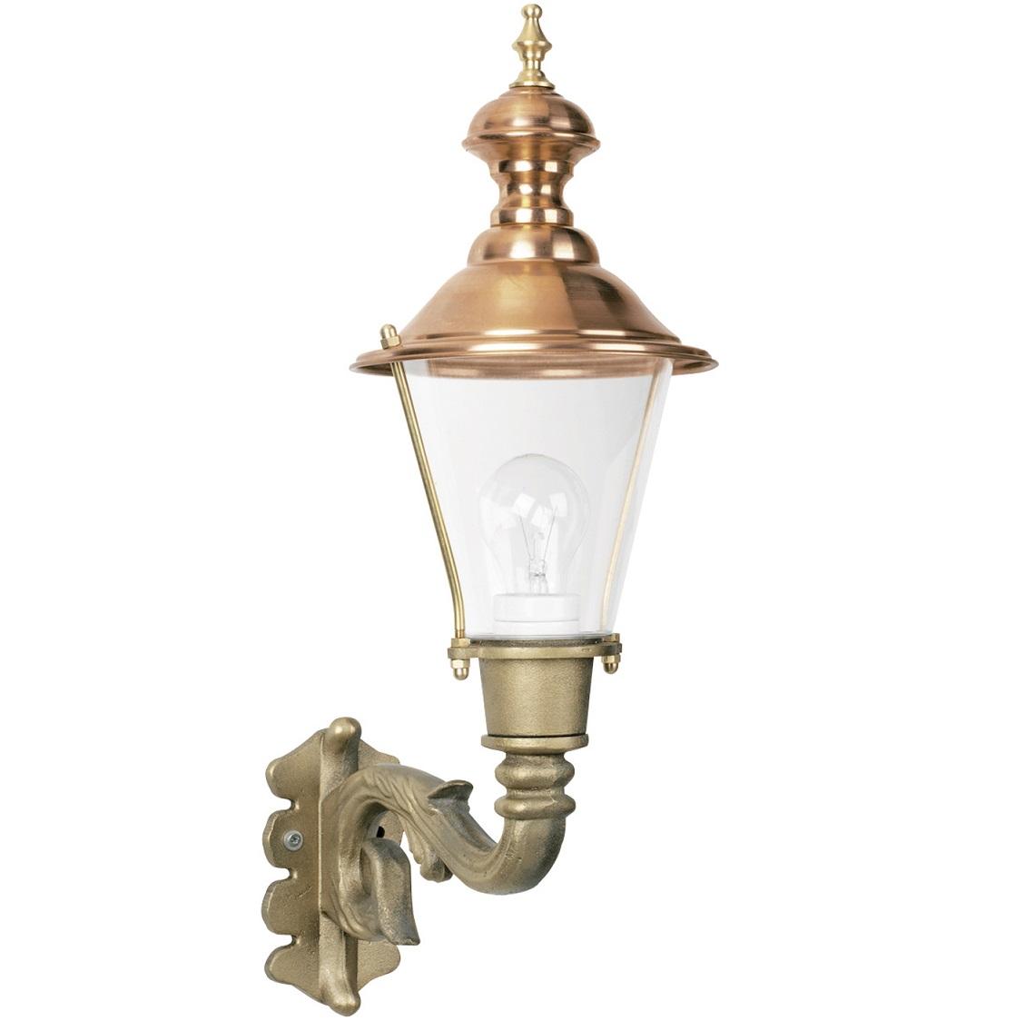 Utelampa Ravensburg i klassisk stil. Handtillverkad utelampa i koppar och brons, höjd 55 cm.