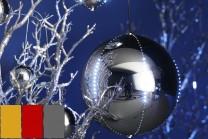 Snowball LED-kulor, 30 cm i färgerna guld, röd och silver. Julkulor med rinnande LED-belysning - skapa en känsla av snöfall inomhus eller utomhus! 1-pack.