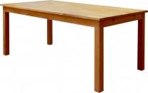 Matbord Filip med klaff i massiv oljad ek från serien Falun. Stort köksbord med plats för 6-10 stolar. Storlek: 180-280 cm.