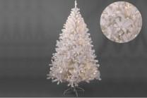 Julgran Idre med LED-belysning. Fyllig vit konstgran av hög kvalitet! Vit plastgran som finns i fler storlekar: 1,8-2,1 m.