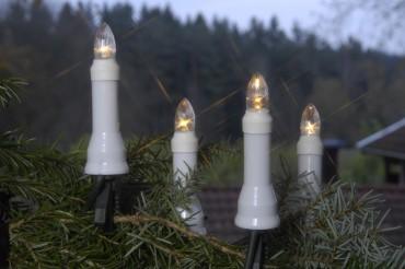 Julgransbelysning för utomhusbruk med 16 LED lampor. LED lamporna håller 20 000 drifttimmar och drar en bråkdel i ström.