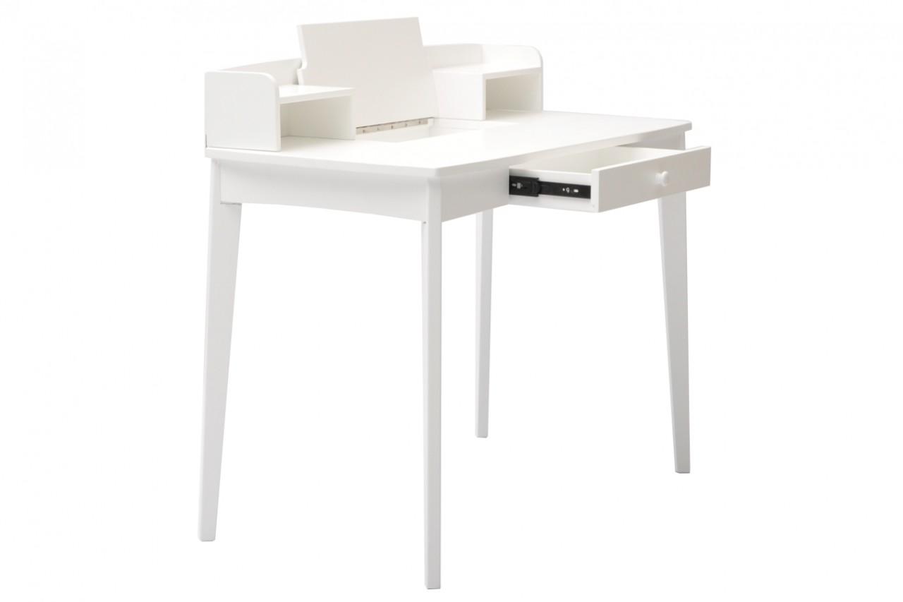 Omtalade Skrivbord Sigrid i vitt. Praktiskt skrivbord med förvaring YC-22