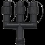 Tredelare EXTRA för System 24. Fördela ljusslingor i 4 förgreningar, ute eller inne.