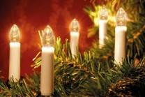 Julgransbelysning för inomhusbruk med 16 klara LED lampor. LED lamporna håller 20 000 drifttimmar och drar en bråkdel i ström.