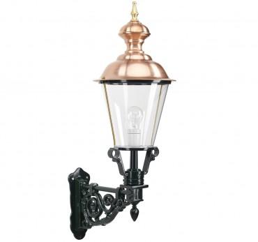 Väggafast utelampa i koppar och aluminium i klassisk stil. Exklusiva handtillverkade utelampor online!
