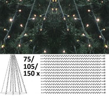 Granpaket LED 5 - Komplett paket med LED-ljusdekoration för gran 25 m, utomhus.