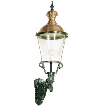 Utelampa Amsterdam i klassisk stil. Handtillverkad högkvalitativ utelampa eller utelykta i koppar och gjutjärn, höjd 115 cm.