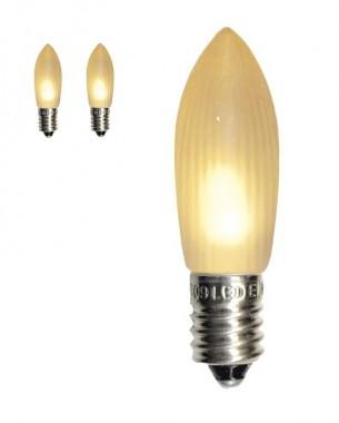 LED-lampa Frost i frostad varmvit. Universal E10-lampa 0,1 W, 3-pack.