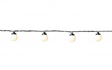 System 24 party light - ljusslinga med 10 st LED-lampor med vita lampor, START (startslinga). Bygg på med extraslingpor!