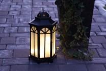 Kantis Utelykta med LED-lampor Svart, 40x23 cm.