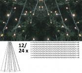Granpaket LED 2 - Komplett paket med LED-ljusdekoration för gran 10 m, utomhus.