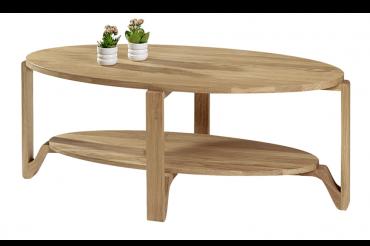 Soffbord Eslöv i massiv oljad ek. Högkvalitativt soffbord i storleken 120x60 cm.