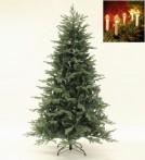 Julgran Ljusdal med klassisk julgransbelysning. Paket med naturtrogen konstgran 210 cm och 16 st julgransljus.