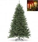 Julgran Mora med klassisk julgransbelysning. Paket med naturtrogen konstgran 210 cm och 16 st julgransljus.