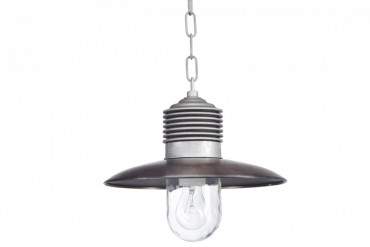 Lampa Ampere koppar/aluminium, handtillverkad taklampa i koppar och aluminium. Lampa i industristil! Bredd: 31 cm i diameter.