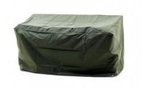 Möbelskydd för utesoffa i grön PVC-behandlad plast. Praktiskt regnskydd för utebänk! Mått: 160x75 cm.