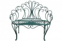 Utesoffa Rexbo i romantiskt stil av turkos smide, metall soffa med plats för två personer! Storlek: 109 cm.