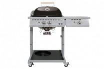 Gasolgrill Paris Deluxe 570 G med 2 brännare + sidobrännare. Grill med stor grillyta och sidobord av granit!