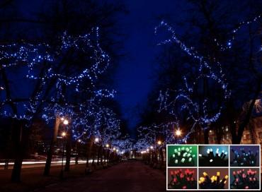 LED-decolight, ljusslingor 20 m för professionellt bruk i offentliga miljöer