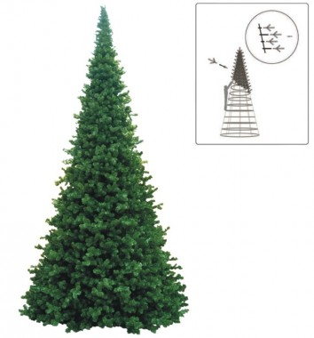 Julgran Giant Natural. Stor och extra tät konstgran för offentliga miljöer. Finns i storlekarna 4,6 m - 15,1 m.