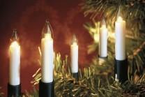 Julgransbelysning för inomhusbruk med 16 klara LED skaft lampor. LED lamporna håller 20 000 drifttimmar och drar en bråkdel i ström.