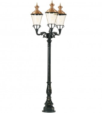 Stolplykta i koppar, utelampa i koppar och aluminium i klassisk stil. Exklusiva handtillverkade utelampor online!