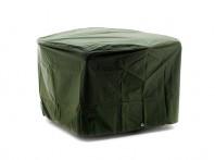 Möbelskydd för runt utebord i grön PVC-behandlad plast. Praktiskt regnskydd för utemöbler! Mått: 120 cm i diameter.