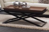 Soffbord från serien Fide. Svart vardagsrumsbord med avtagbar serveringsbricka som andas New England. Storlek: 120x70 cm, H: 45 cm.